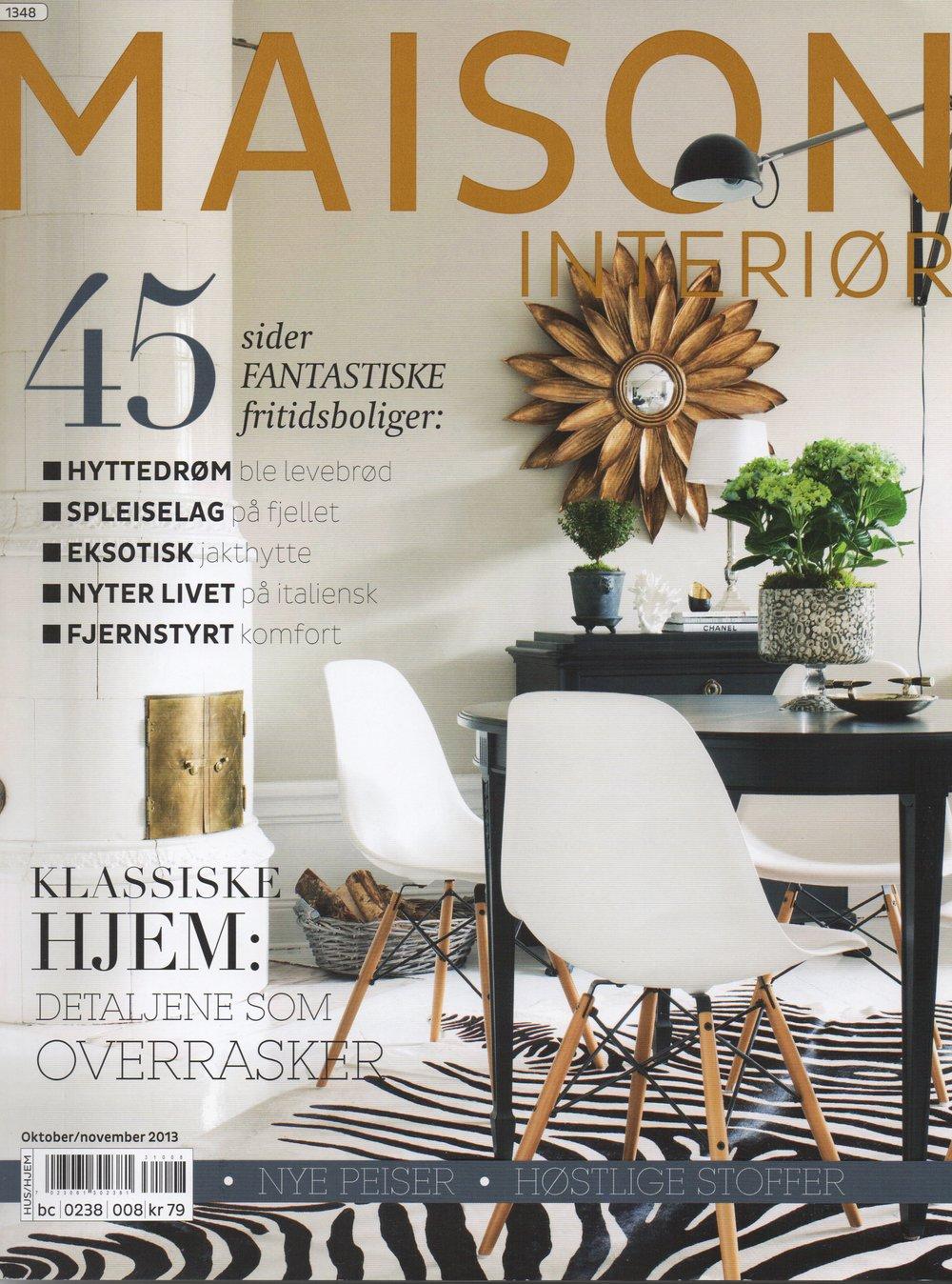 Norwegian Magazine Maison Interior, 2013