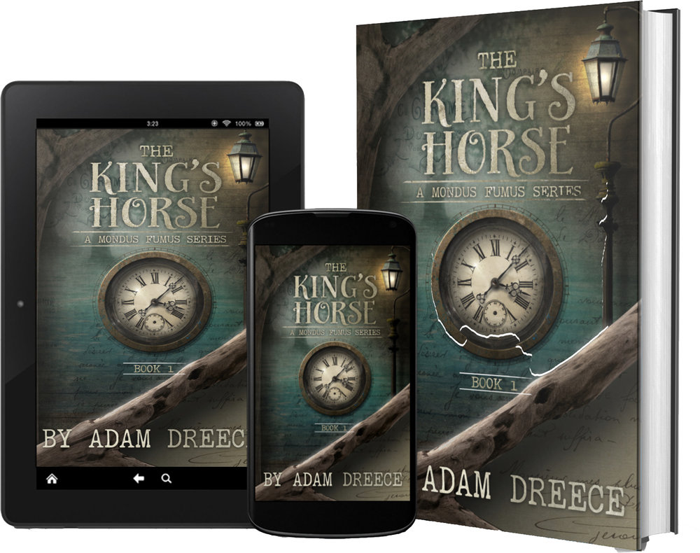 The King's Horse - Returning to the world of steampunk and fairy tale, we follow the adventures of Christina Creangle. When her father passes and the world needs a new hero, will she be able to rise up and stop the Moufan Men in time before they get their hands on the King's Horse?