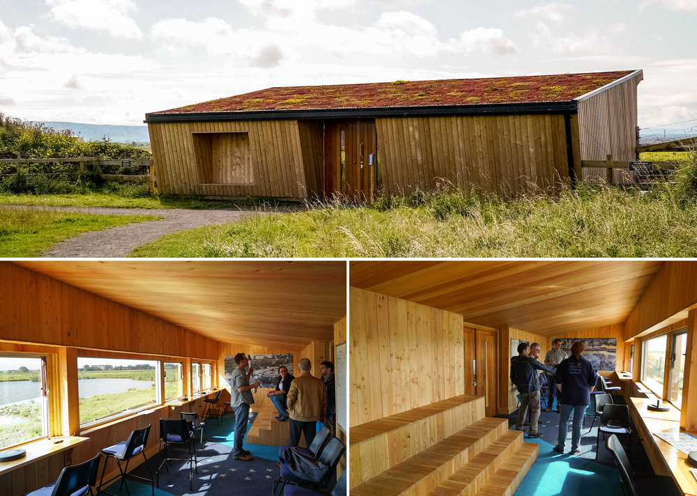 The RSPB Saltholme birdhide, Middlesbrough. An old bird hide got a complete refurbishment in Biotope style.