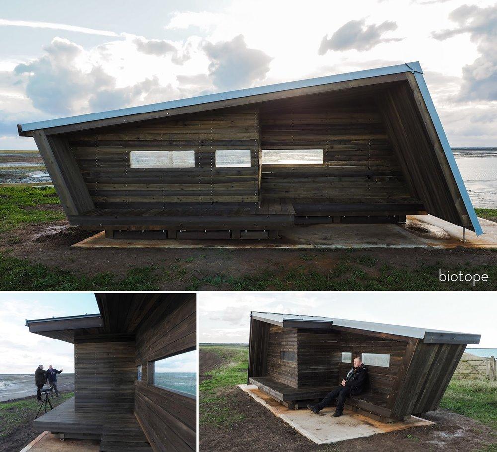 The RSPB Wallasea wind shelter / bird hide by Biotope ©