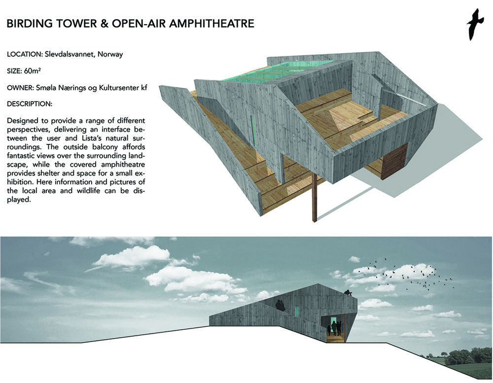 The amphitheater concept: Wheelchair accessible viewing tower section