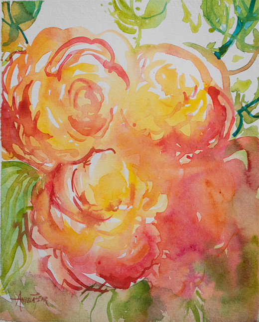 """Everlasting"" watercolour on paper by Angela Fehr"