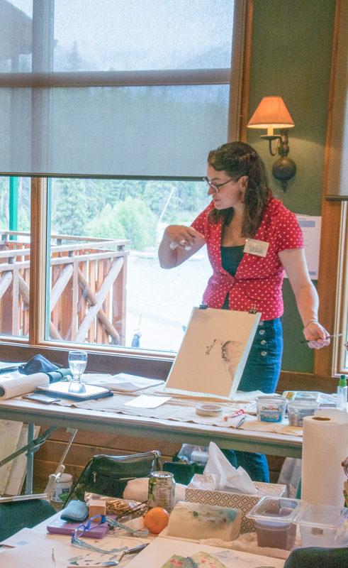 Jasper Watercolour Workshop with Angela Fehr