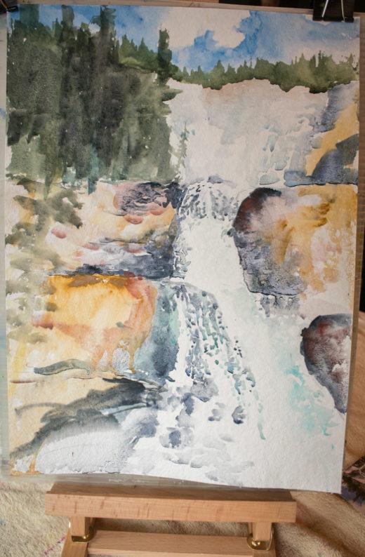 demonstration painting: Jasper Watercolour Workshop with Angela Fehr
