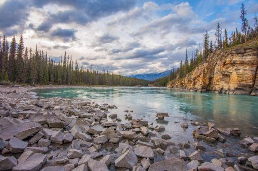 Athabasca River, Jasper Canada by Angela Fehr