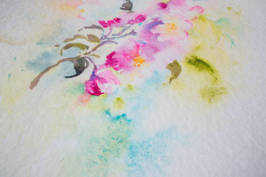 Lovely Loose Florals in watercolour course by Angela Fehr