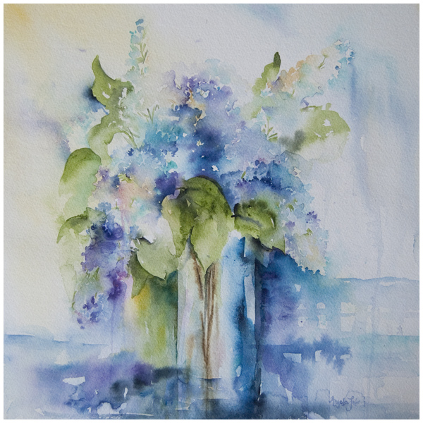 """Fragrant"" watercolor painting by Angela Fehr"