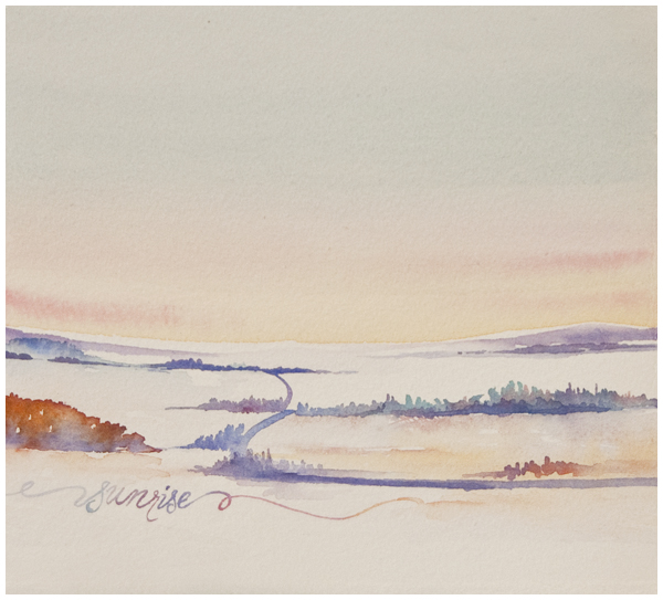 sunrise sketch | Angela Fehr watercolor