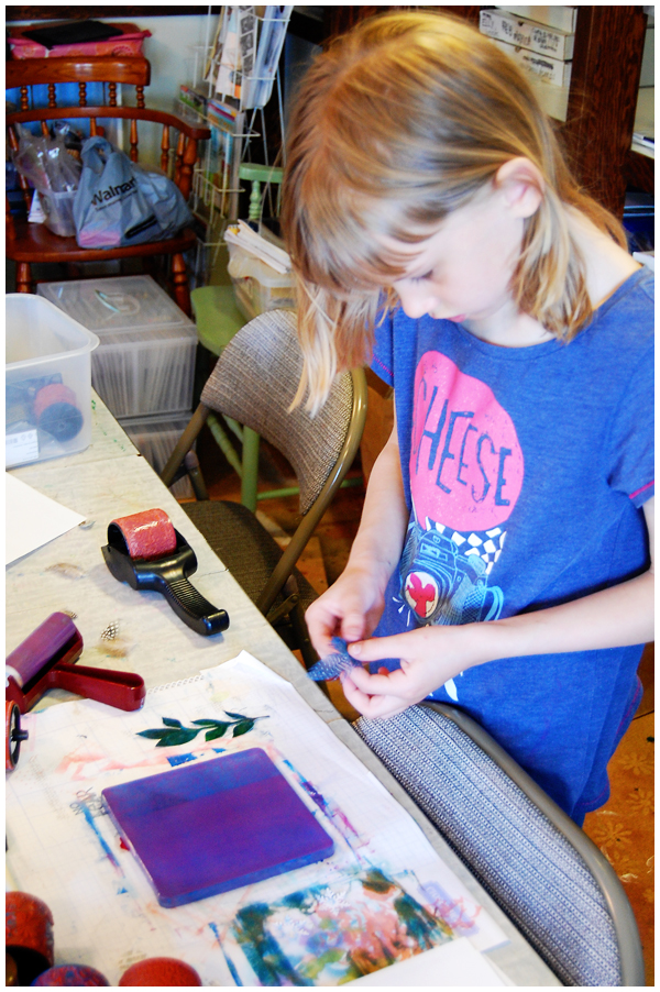Mono printing with kids | AngelaFehr.com