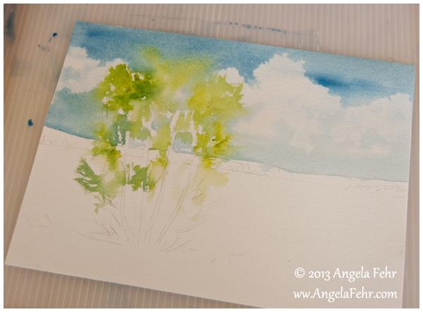 birch study 2 | Angela Fehr watercolours