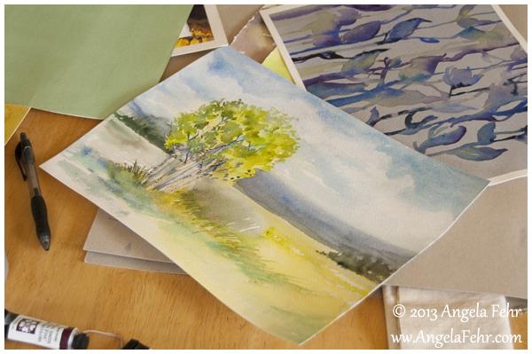birches study | Angela Fehr watercolours