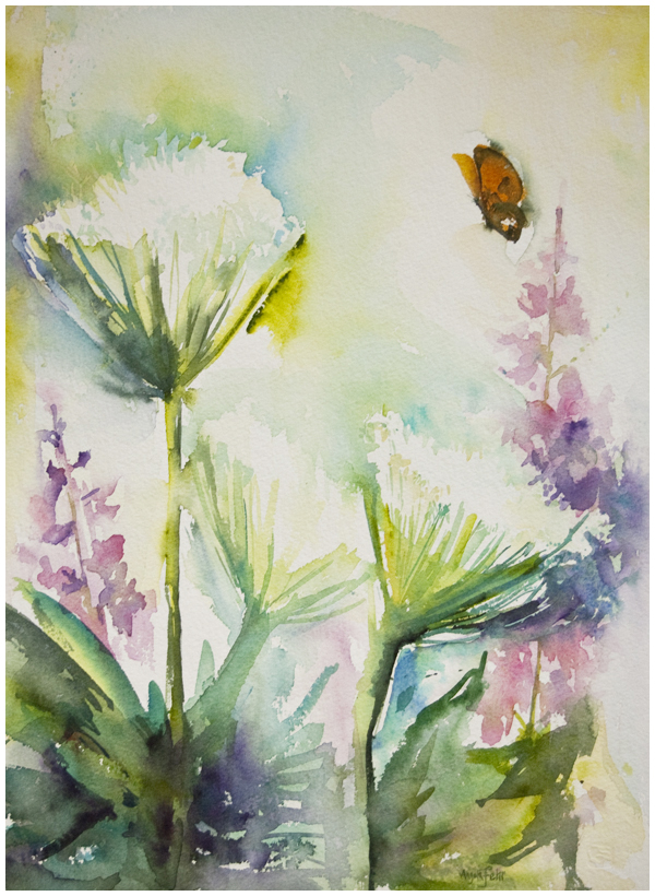 Cow Parsnips in watercolour | Angela Fehr https://angelafehr.com