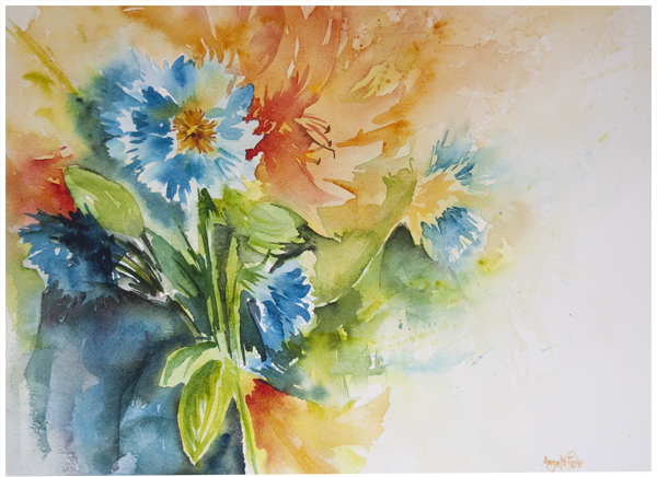Summer Fling | watercolour by Angela Fehr