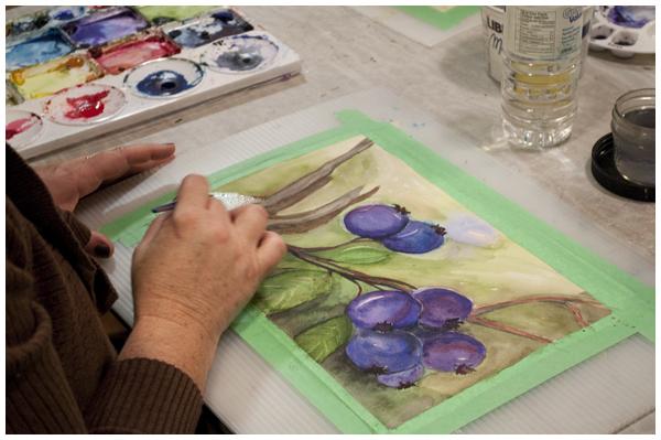 watercolour lessons | Angela Fehr watercolours