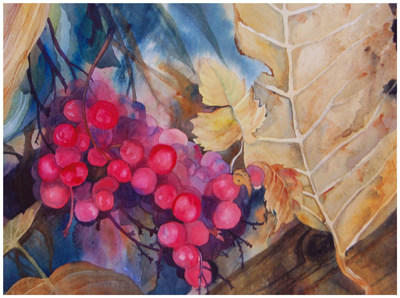 Backyard Berries | Watercolor by Angela Fehr