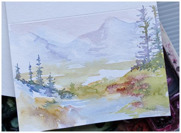 watercolor greeting card   angela fehr