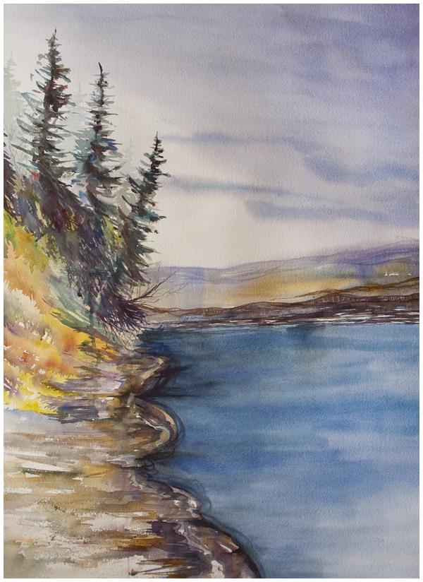Around the Corner (Peace River landscape) | Angela Fehr watercolours