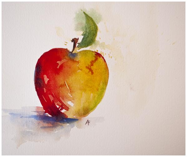 apple exercise | Angela Fehr watercolors