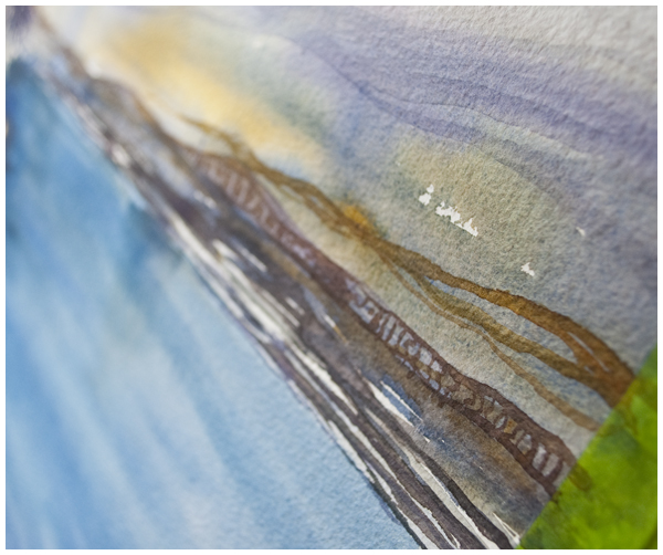 peace river corner detail | Angela Fehr watercolours