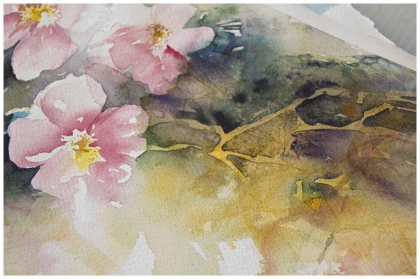 fluid roses detail | Angela Fehr watercolours https://angelafehr.com