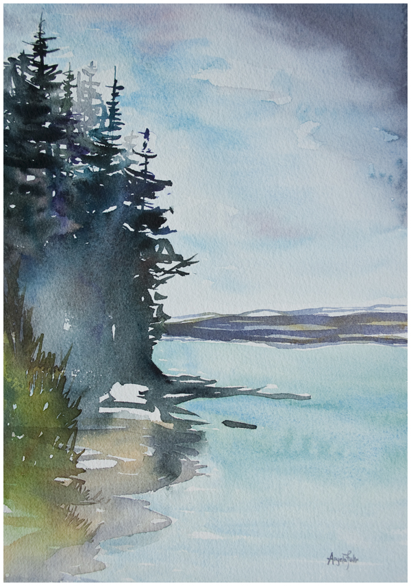 Peace River Corner | watercolour painting by Angela Fehr https://angelafehr.com