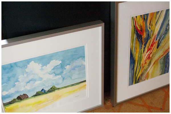 2 framed paintings | Angela Fehr watercolours