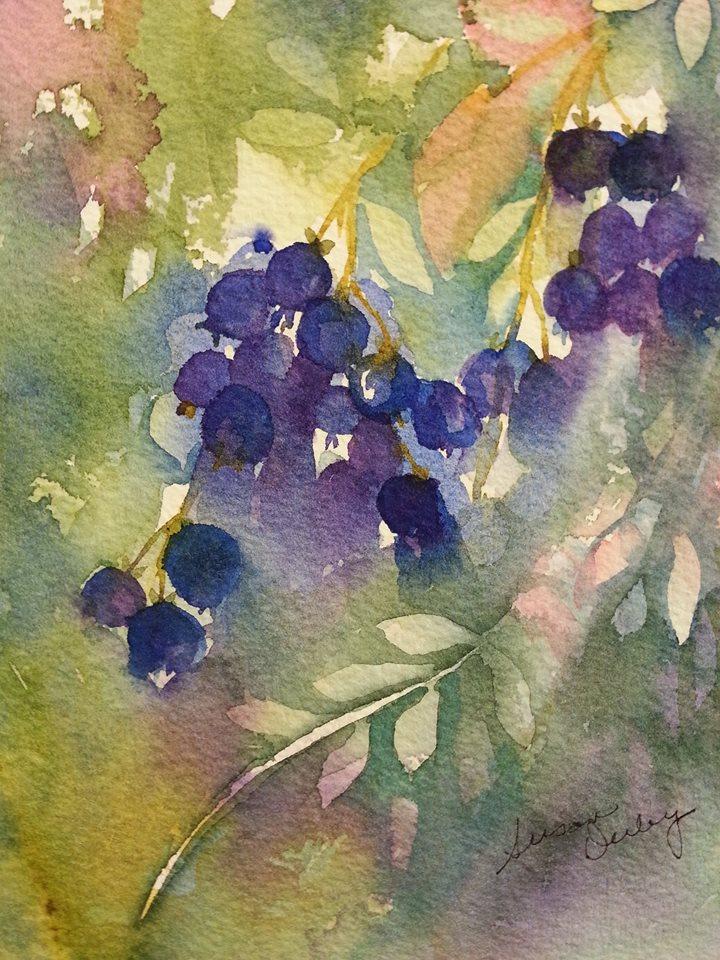 Susan derby fedora blueberries