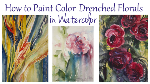 Paint amazing, color drenched florals in watercolor after taking this online course.