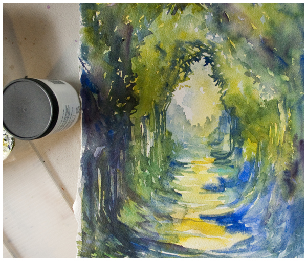 path in progress | Angela Fehr watercolour https://angelafehr.com