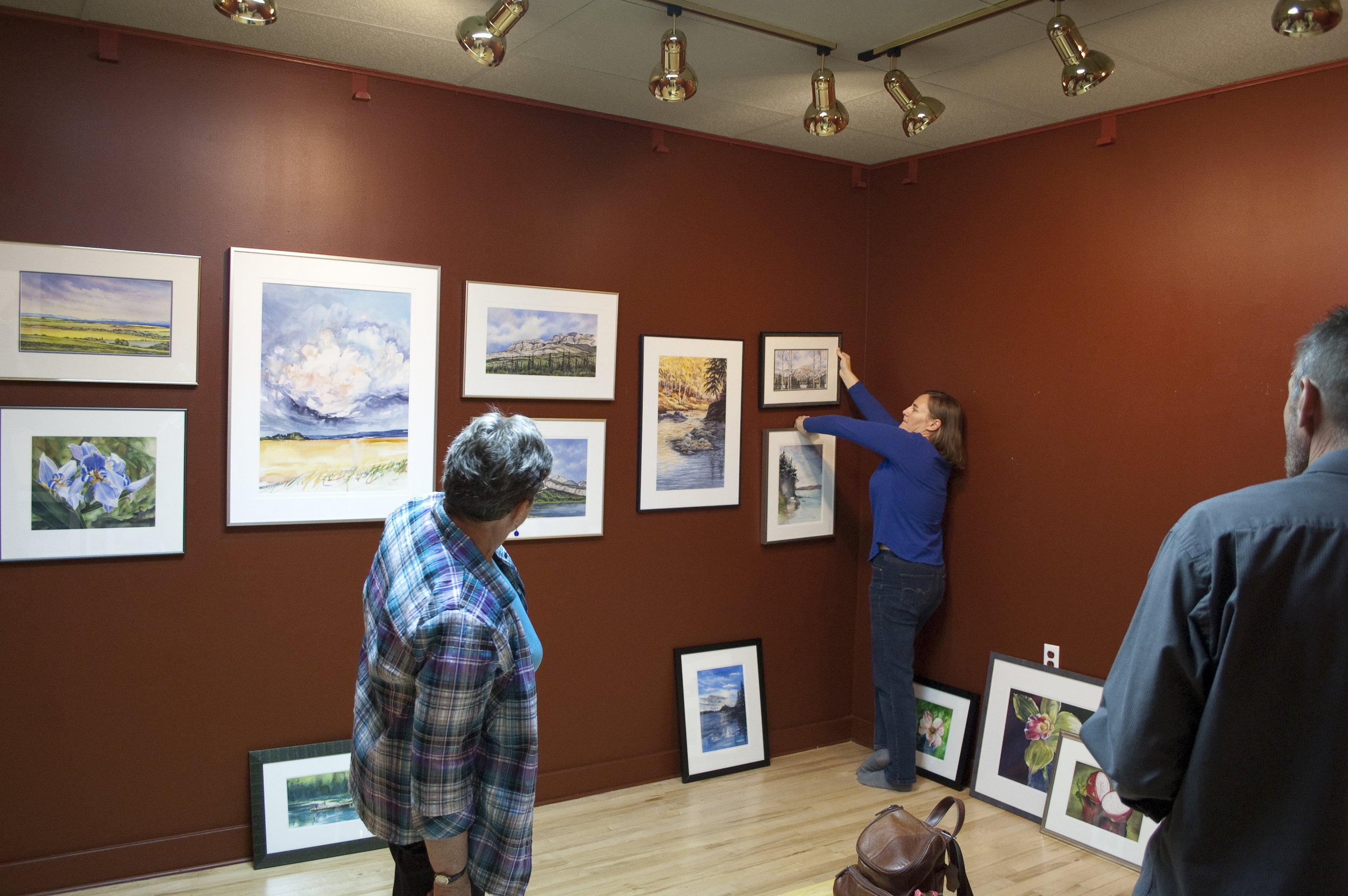 Peace Watercolour Society - hanging our fall show