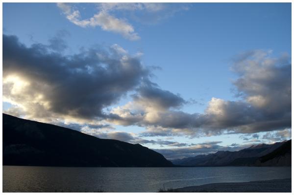 sky over Muncho Lake | Angela Fehr https://angelafehr.com