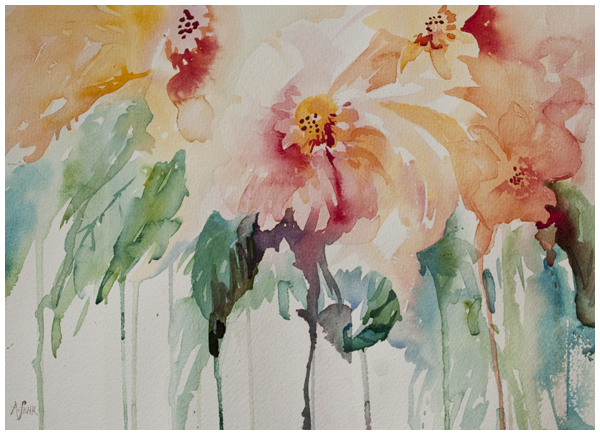 """Dainties"" watercolour painting by Angela Fehr 