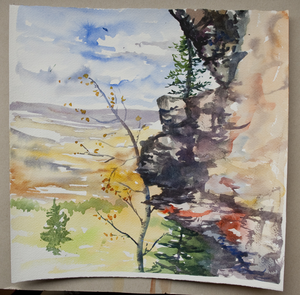 plein air bear mountain | Angela Fehr watercolours https://angelafehr.com