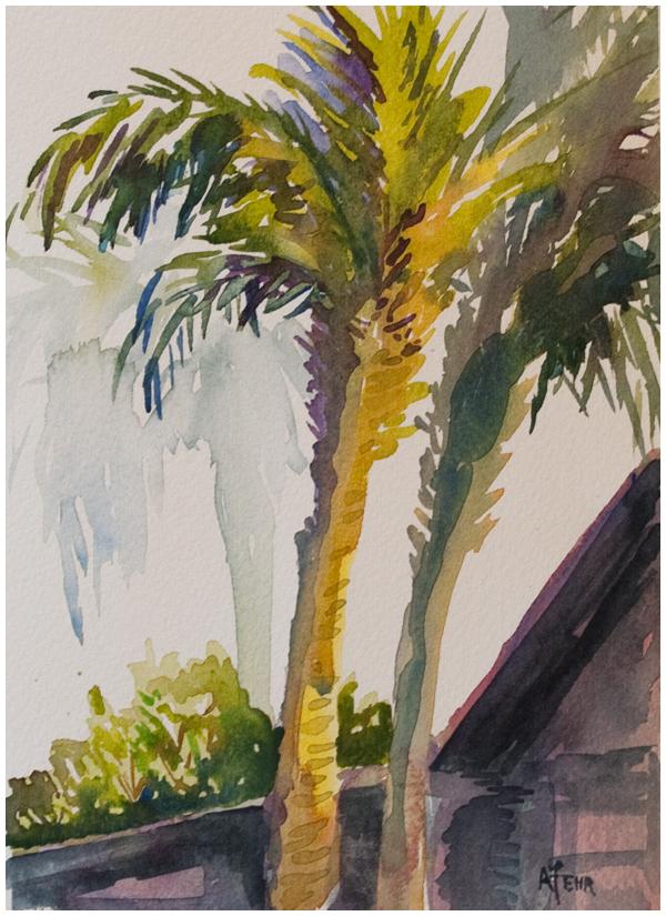 palms | Angela Fehr watercolours