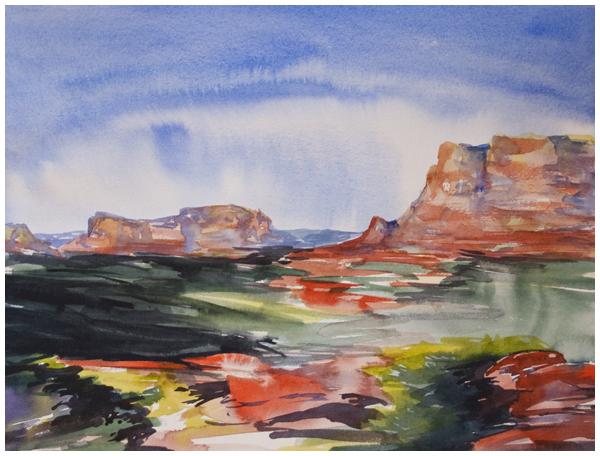 sedona viewpoint | Angela Fehr watercolours