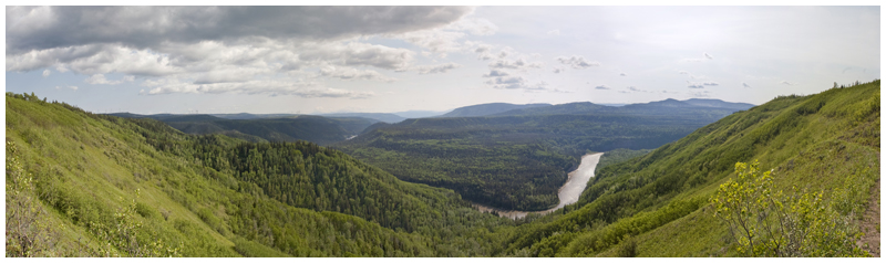 Hiking above the Murray River near Tumbler Ridge, BC Canada