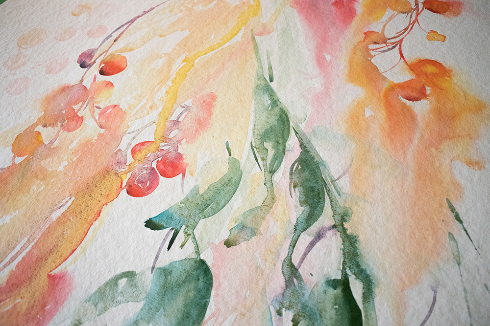 Watercolour Fall Foliage | Angela Fehr watercolours