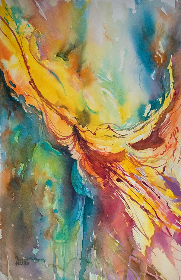 """""""Flight of Fancy"""" watercolour by Angela Fehr"""