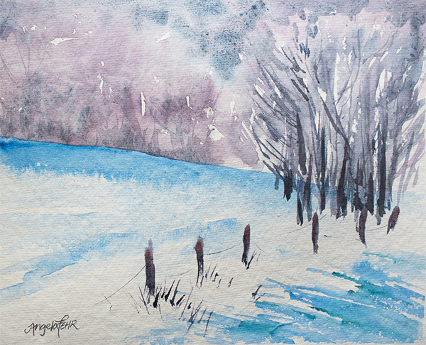 """Winter Wonder"" watercolor by Angela Fehr"
