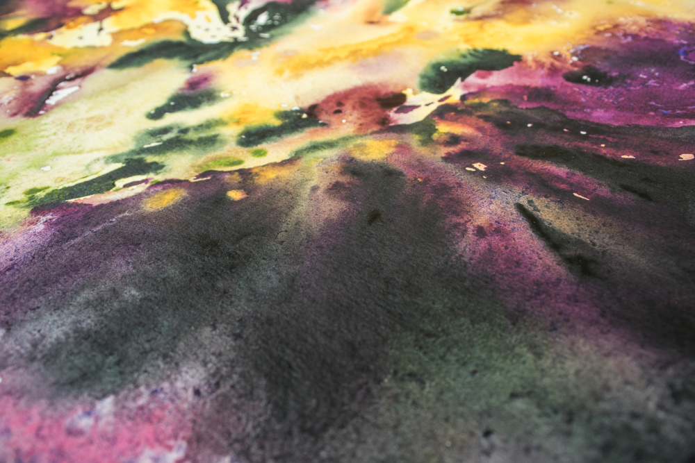 "Detail of ""Glorious"" watercolour floral abstract by Angela Fehr"