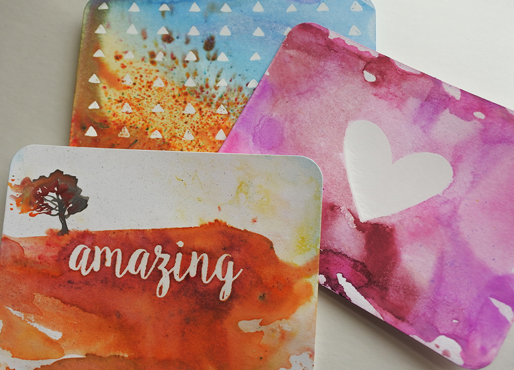 creative watercolour cards