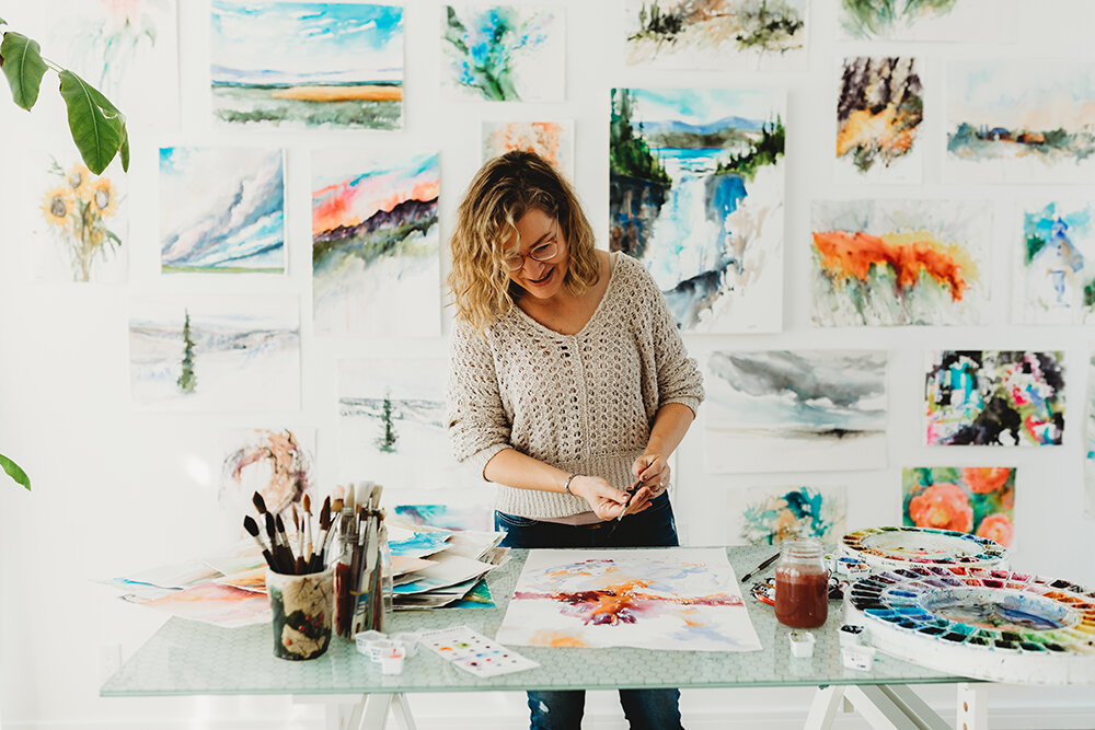 How To Be Self Taught Using 4 Stages Of Development In Watercolor Angela Fehr Watercolour
