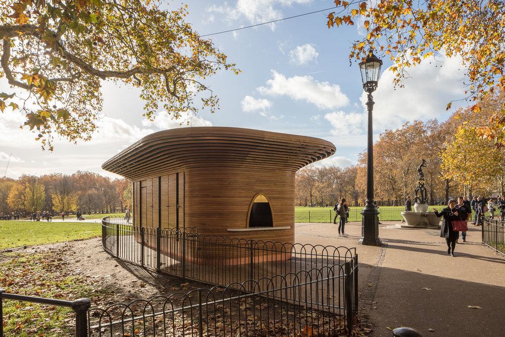 Mizzi Studio, Ritz Corner kiosk, Green Park, London, The Royal Parks