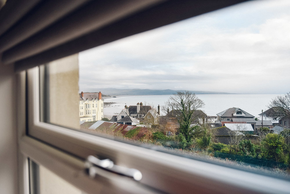 Sea views from double bedroom