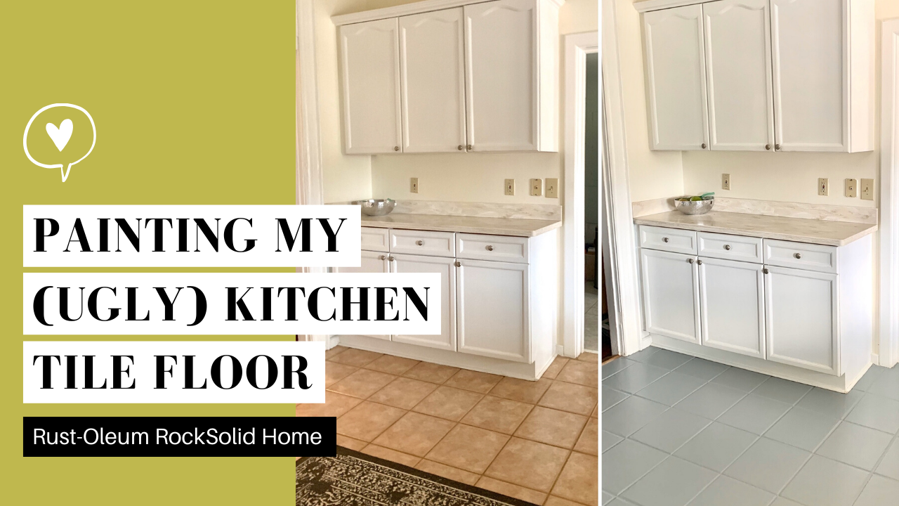Video Painting My Kitchen Tile Floor With Rust Oleum Rocksolid Home Katherine Forbes