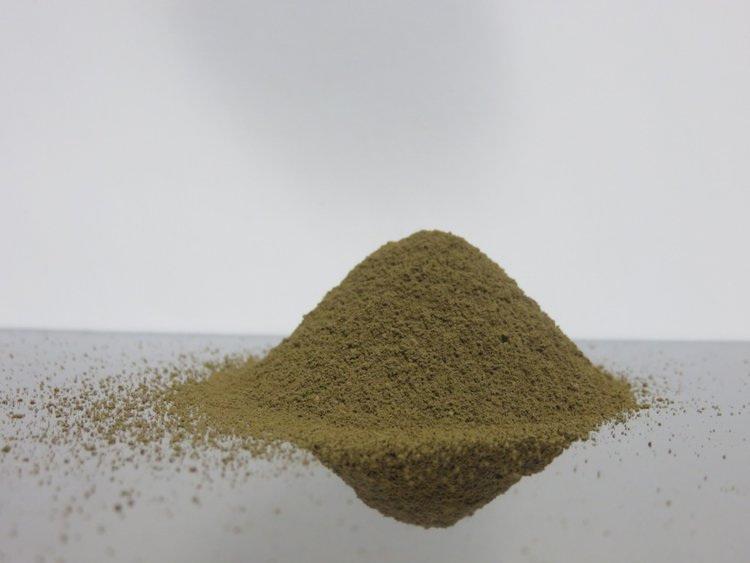 Powder on polished surface