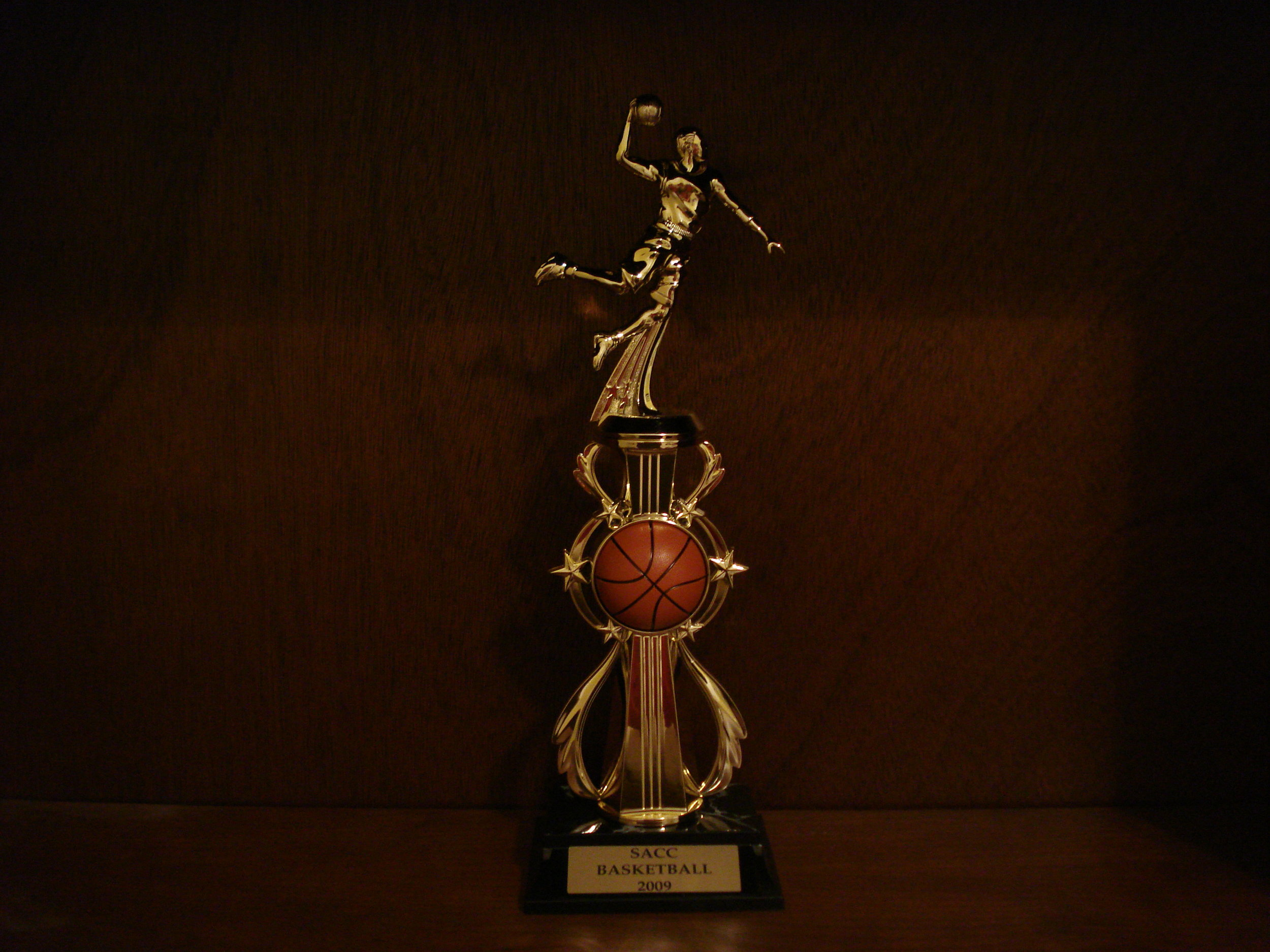 Jon Alex's basketball trophy