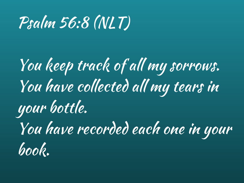 Psalm 56-8New Living Translation (NLT)8 (1)