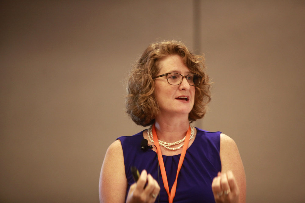 Alicia Aiken, JD, conducts a training on confidentiality.  Photo by Jenny Elwick