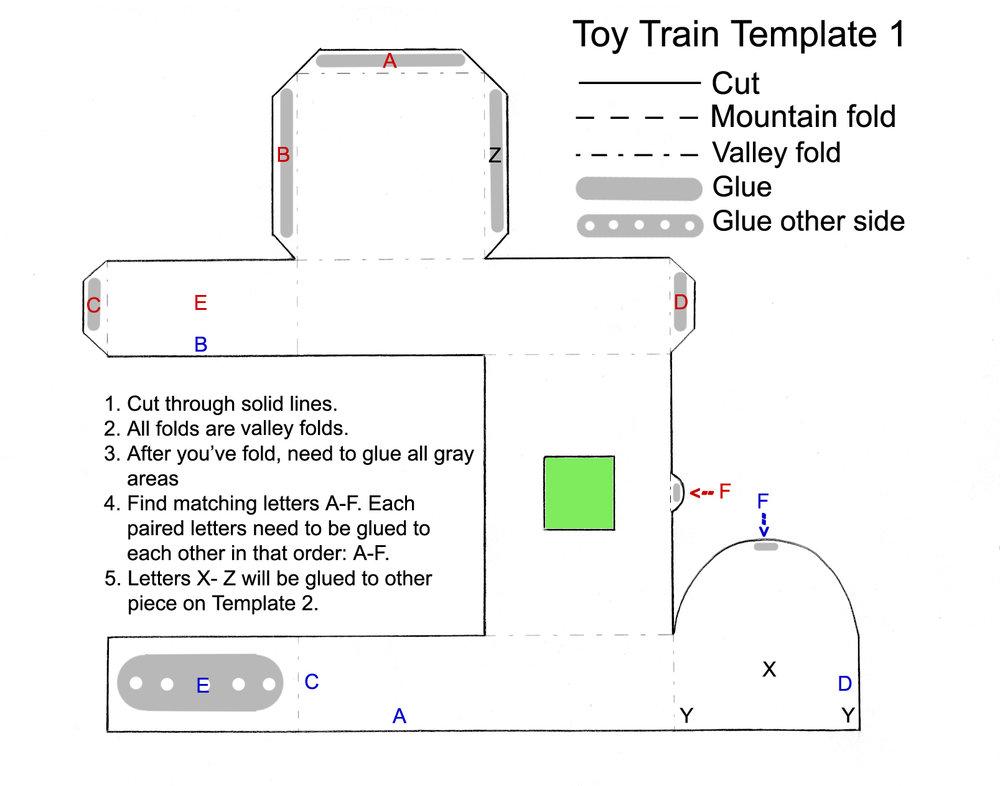 Toy Train Favor Template Part 1